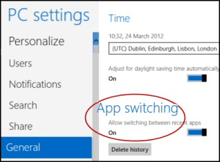 Windows 8 App Switching