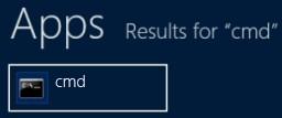 Windows 8 CMD Prompt