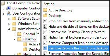Windows 8 Recycle Bin Group Policy