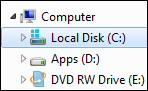 Windows 8 Explorer C:\ Windows