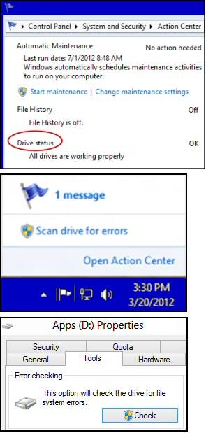 Windows Server 2012 Chkdsk Utility