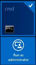 Windows 8 Run as administrator
