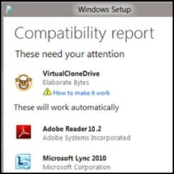 Windows 8 Upgrade advisor