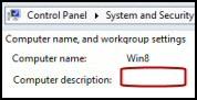 Change Computer Description Registry