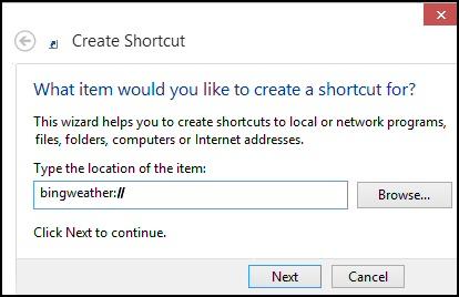 Windows 8 Create Shortcut Metro App on Desktop