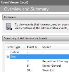 Windows 8 Event Logs
