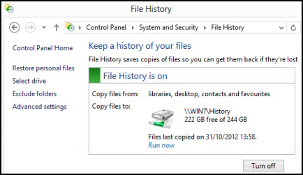 File History On