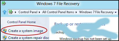 Windows 8 Create System Image