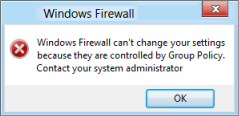 Windows 8 Group Policy Disable Firewall