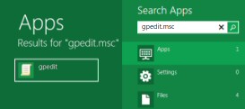 Windows 8 -  How to launch GPEDIT.msc