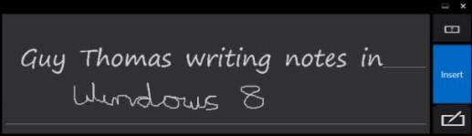 Windows 8 Handwriting