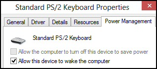 HID Wake up Windows 8