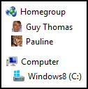 Windows 8 HomeGroup