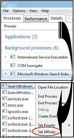 Windows 8 Search Indexer Task Manager