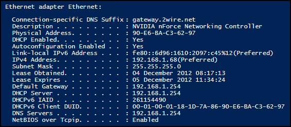 Windows 8 IPv6