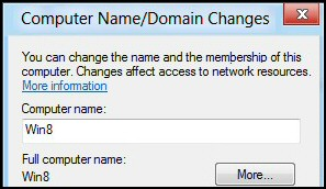 Windows 8 Connect to Domain