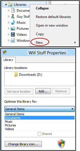Create a New Windows 8 Library