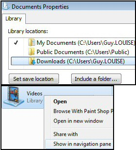 Windows 8 Libraries Set Save Location