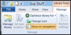 Windows 8 Library Ribbon