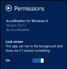 Windows 8 Lock Screen Permissions