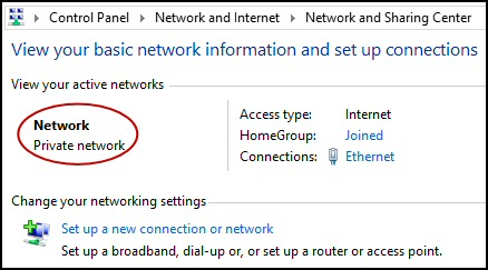 Windows 8 Private Network