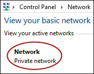 Windows 8 Network Location