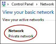 Windows 8 Network Location