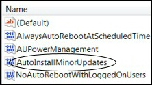 Windows 8 Group Policy AutoInstallMinorUpdates