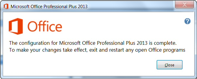 Upgrade to Office 2013