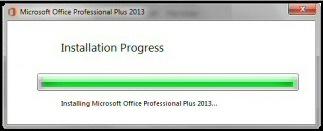 Setup Office 2013 Progress