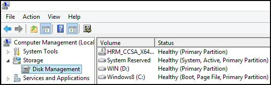 Windows 8 Partition