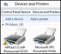 Windows 8 Printer Problems