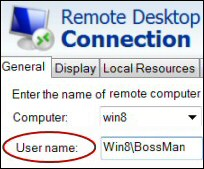 Windows Server 2012 Remote Desktop Connection