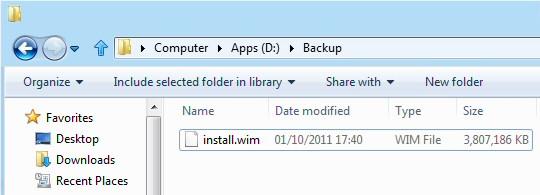 Create Windows 8 Image with Recimg