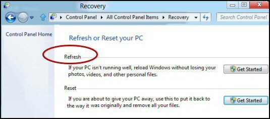Refresh Your PC