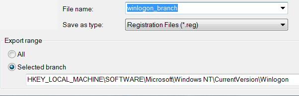 Windows 8 Registry Export