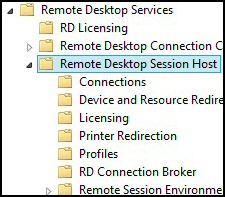 Windows 8 Remote Desktop Group Policies