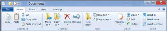 New Windows 8 Ribbon