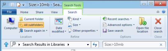 Windows 8 Search Files