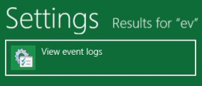 Windows 8 Event Viewer Settings