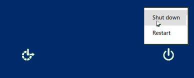 Windows 8 Shut down Logoff