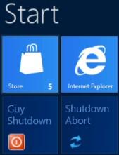 How To Create a Windows Metro Shutdown Tile