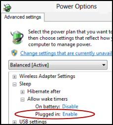 Sleep Enable Remote Desktop