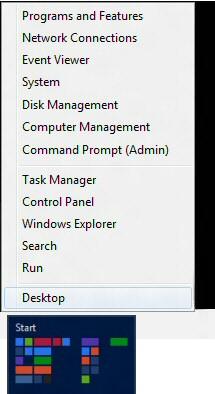 Windows 8 Start Settings List
