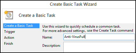 How to create a Windows 8 Task