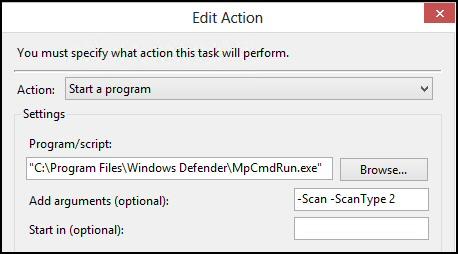 Windows 8 Task Schedule Windows Defender