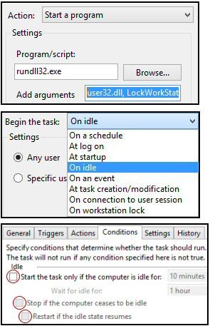 Windows 8 Task Scheduler Trigger
