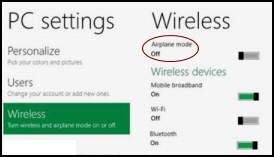 Windows 8 Wireless Settings