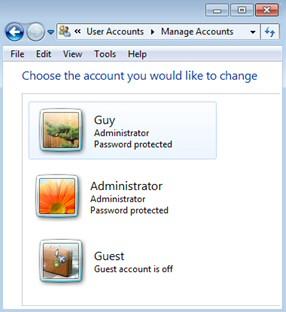 Check Microsoft Windows 8 User Accounts