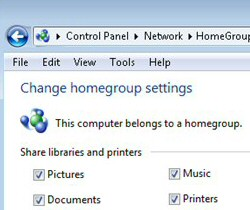 Windows 8 HomeGroup